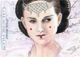 Star Wars GF - Queen Amidala Sketch Card 1 by DenaeFrazierStudios
