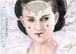 Star Wars GF - Queen Amidala Sketch Card 1