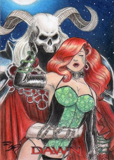 Linsner's Dawn - New Horizons Sketch Art Card 6 by DenaeFrazierStudios