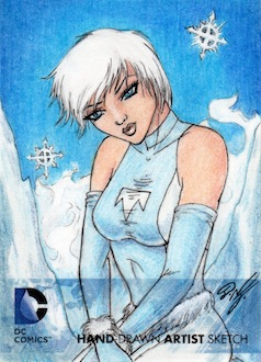 DC Comics - Ice (Tora) Artist Sketch Card by DenaeFrazierStudios