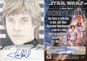 Star Wars Illustrated ANH - Luke Sketchagraph 1 by DenaeFrazierStudios