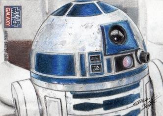Star Wars G7 - R2-D2 Sketch Art Card by DenaeFrazierStudios