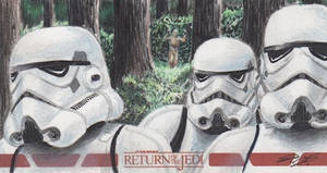 Star Wars ROTJ - Stormtroopers Sketch Card - ARC by DenaeFrazierStudios