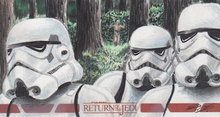 Star Wars ROTJ - Stormtroopers Sketch Art Card RC by DenaeFrazierStudios