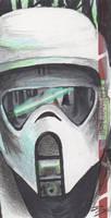 Star Wars ROTJ 3D - Scout Trooper Sketch Card