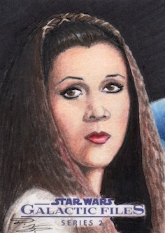 Star Wars GF S2 - Leia (Endor) Sketch Art Card 1 by DenaeFrazierStudios