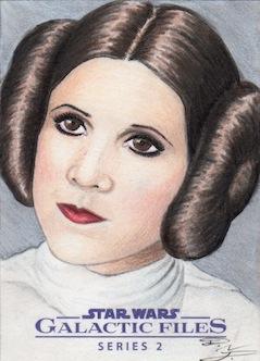 Star Wars GF S2 - Princess Leia Sketch Art Card 2 by DenaeFrazierStudios