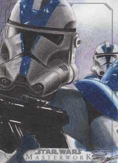 SW Masterwork - Clone Trooper Artist Return Card by DenaeFrazierStudios