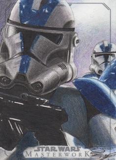 SW Masterwork - Clone Trooper Artist Return Card by DenaeFrazierStudios