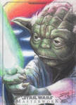 Star Wars Masterwork - Yoda Artist Return Card
