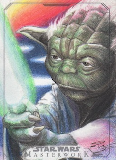 Star Wars Masterwork - Yoda Artist Return Card by DenaeFrazierStudios