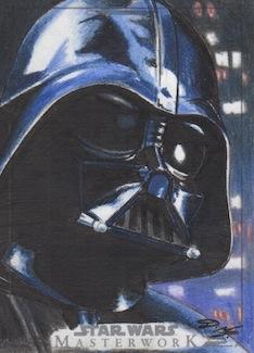 SW Masterwork - Darth Vader Artist Return Card by DenaeFrazierStudios