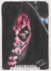 SW Masterwork - Darth Maul Artist Return Card by DenaeFrazierStudios