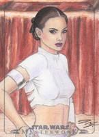 SW Masterwork - Padme Amidala Sketch Art Card by DenaeFrazierStudios