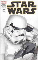 Stormtrooper Sketch Comic Cover (Commission)