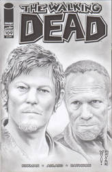 The Walking Dead Sketch Comic Cover (Daryl/Merle)