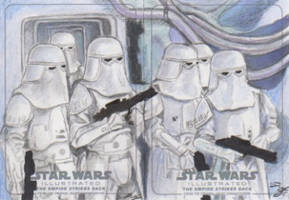 Star Wars Illustrated: TESB - Snowtroopers (2pc) by DenaeFrazierStudios