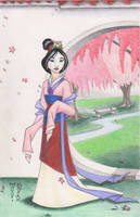 Mulan Original Art by Denae by DenaeFrazierStudios