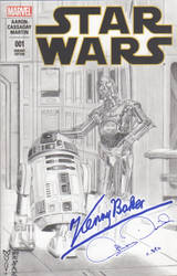 Star Wars - R2-D2 - C-3PO Sketch Cover - Marvel