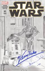 Star Wars - R2-D2 - C-3PO Sketch Cover - Marvel