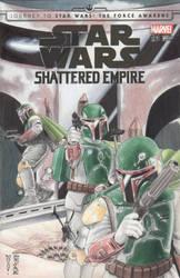 Star Wars - Boba Fett Sketch Cover - Marvel