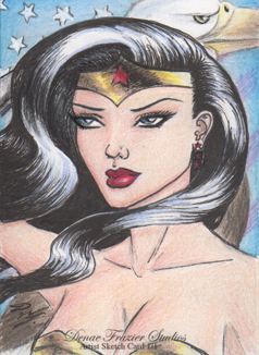Wonder Woman Artist Sketch Card 2 - DCComics by DenaeFrazierStudios