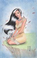 Pocahontas Original Art by Denae by DenaeFrazierStudios
