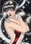 All New Vampirella Sketch Art Card 17 by DenaeFrazierStudios