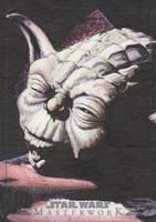 Star Wars Masterwork - Yoda Sketch Art Card 4 by DenaeFrazierStudios