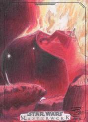 Star Wars Masterwork - Darth Vader Sketch Art Card by DenaeFrazierStudios
