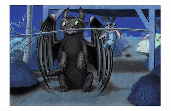 Fetch (Toothless and Stitch) by DenaeFrazierStudios