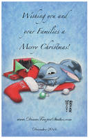 Stitch Holiday - Merry Christmas by DenaeFrazierStudios