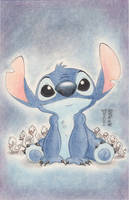 Stitch Smile Original Art by Denae by DenaeFrazierStudios
