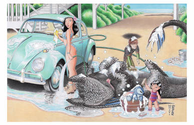Bath Time by Denae Frazier by DenaeFrazierStudios
