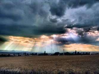 God looks down to earth by Romanskij