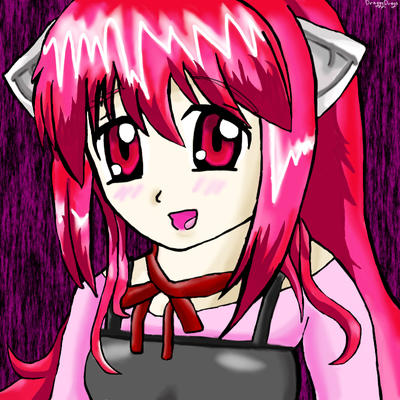 Lucy Elfen Lied Drawing by draggydrago