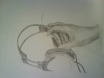 Hand Grabbing Headphones 2 by gikas