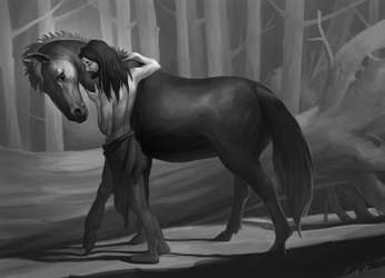 Nook and horse by irenetall