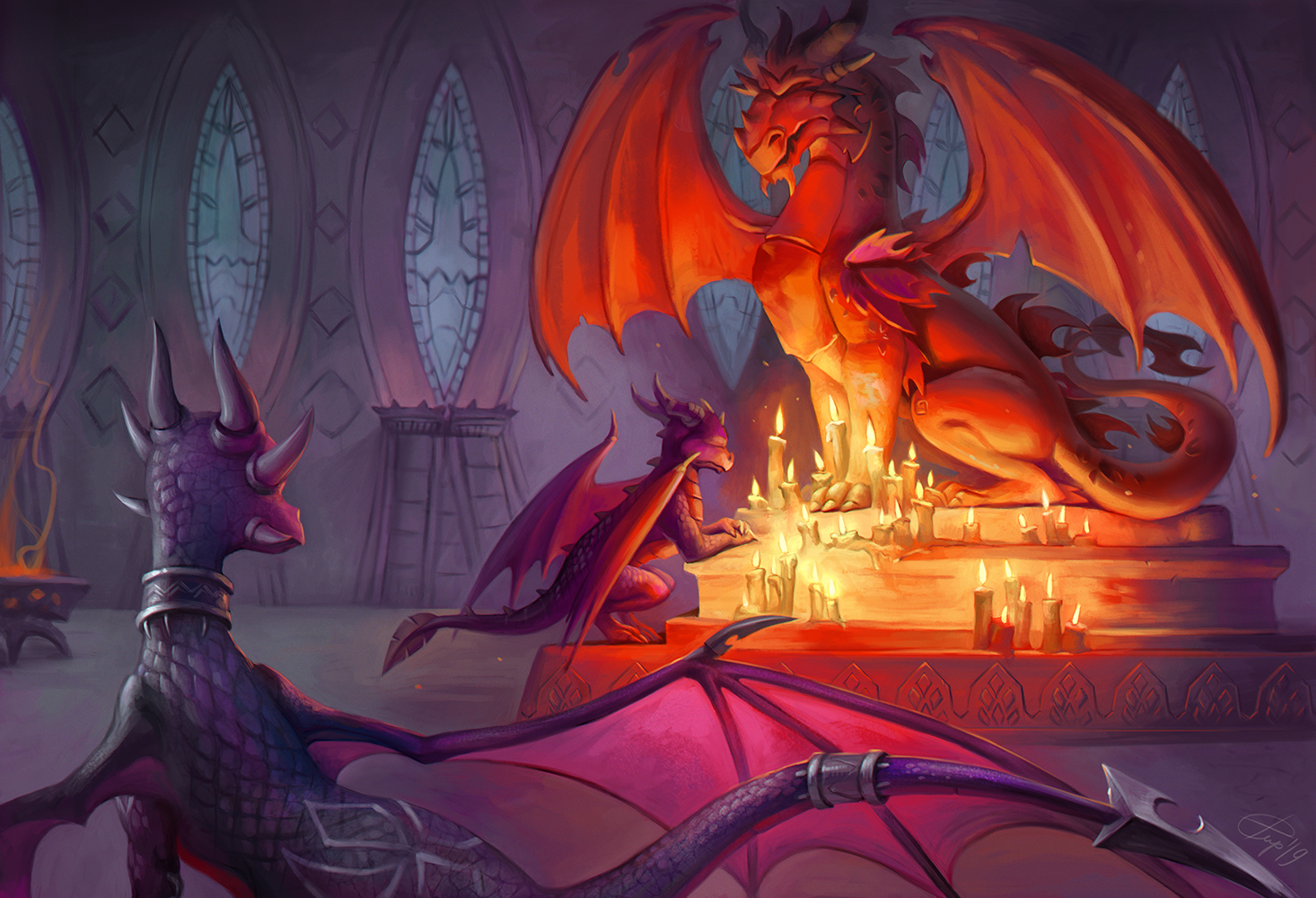Spyro and Cynder by irenetall