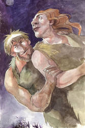 Stone age couple by irenetall