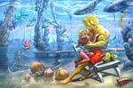 Spongebob and Laura by irenetall