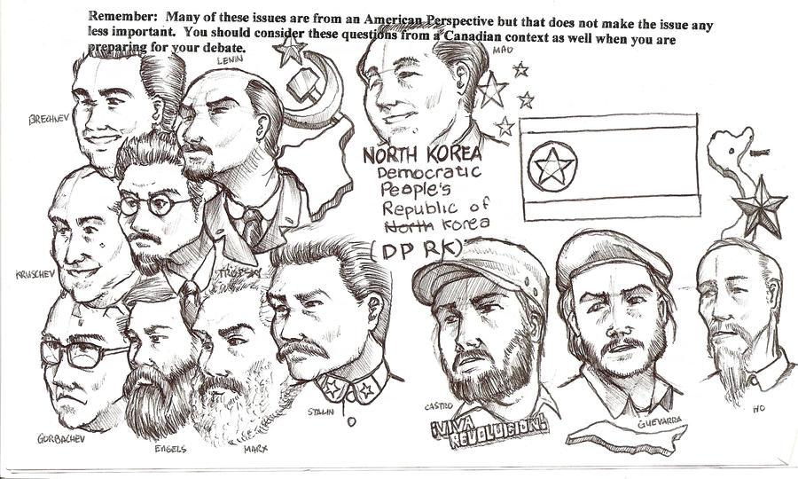 Communist Revolutionaries by Masque-De-Mort