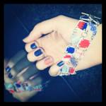 Shrinky dinks bracelet