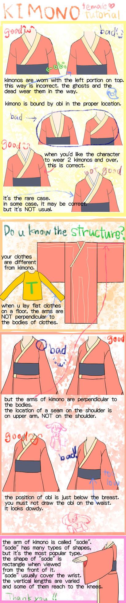 how to draw  proper kimono by saTen0w0