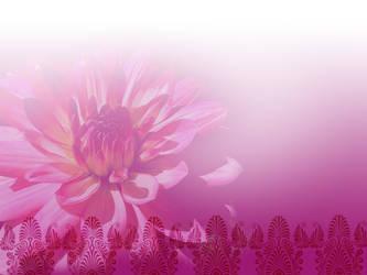 pink:flower by brinylon