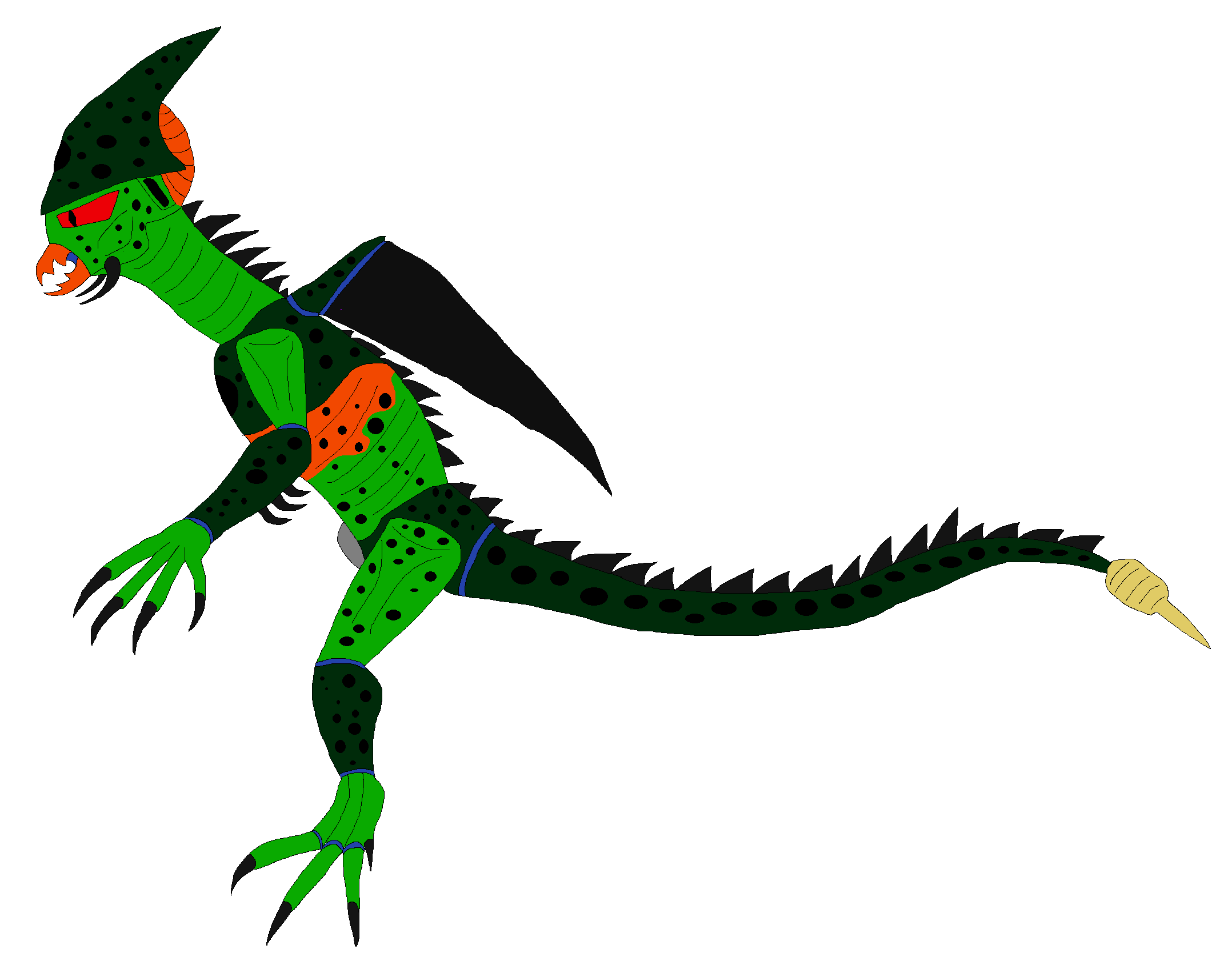 Cell - Imperfect Form by TeamDinosauria21 on DeviantArt