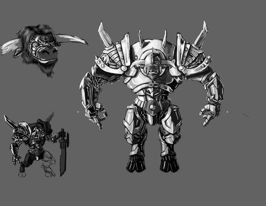 Tor's full armor set and daemon eye by PaulSj