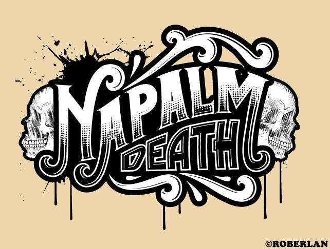 Vintage Napalm Death Logo by roberlan