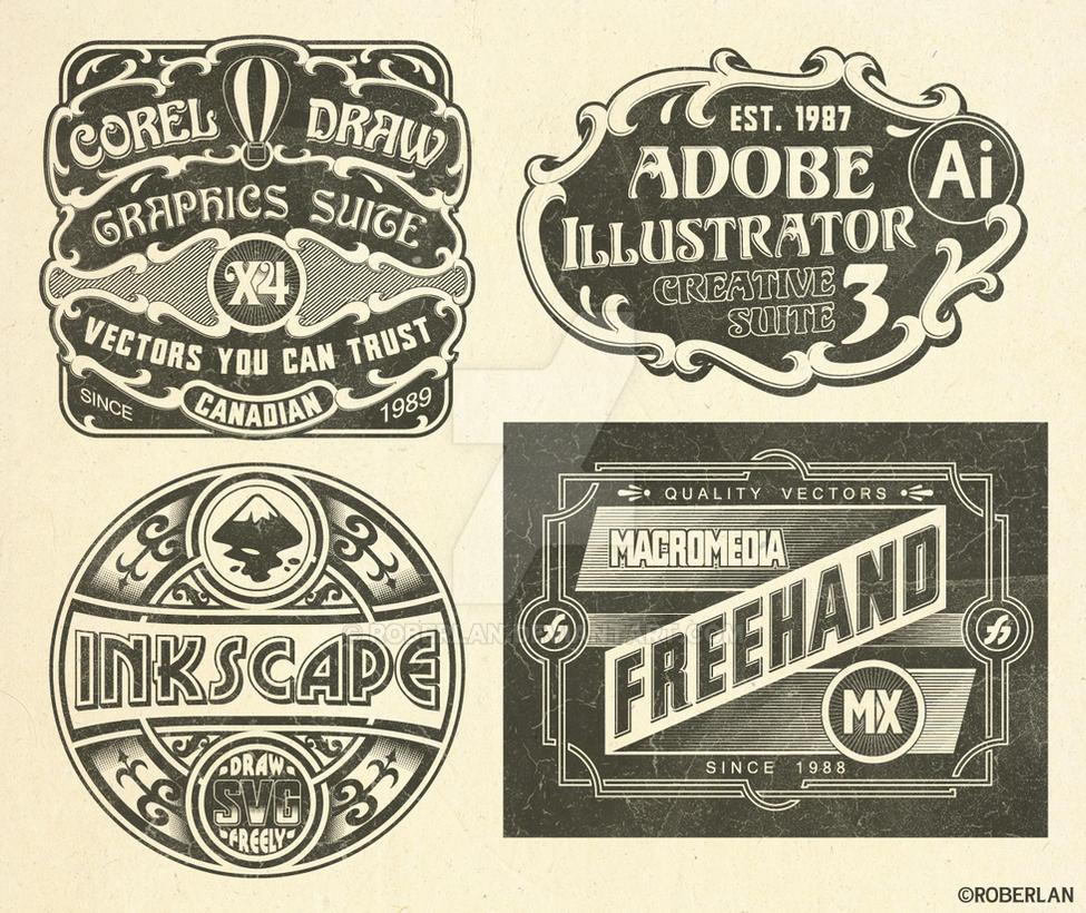 Vintage Vector Logos by roberlan