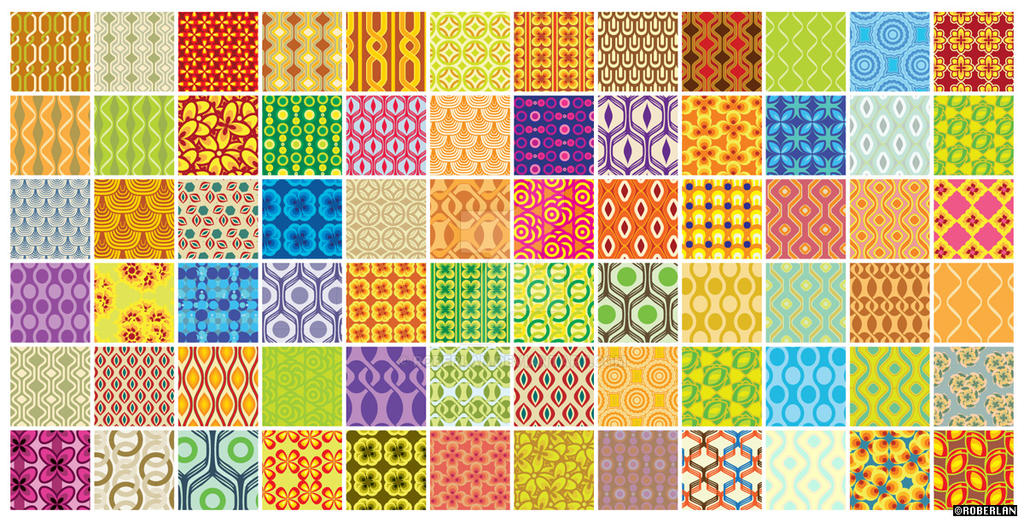 72 retro patterns by roberlan